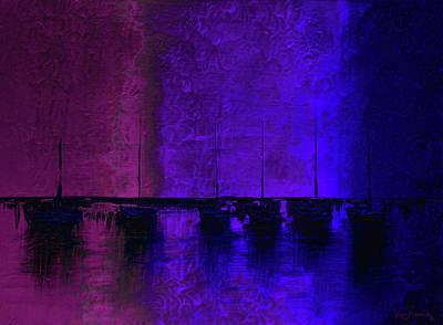 Color Painting - Mystic Bay Dark by Ken Figurski