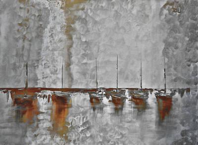 Keys Mixed Media - Mystic Bay Grayish by Ken Figurski