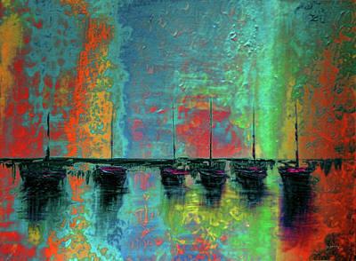 Ocean Sunset Mixed Media - Mystic Bay Rainbow by Ken Figurski