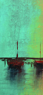 Waves Painting - Mystic Bay Triptych 1 Of 3 by Ken Figurski