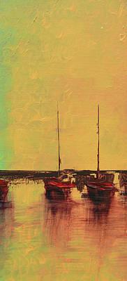Mystic Bay Triptych 2 Of 3 Art Print