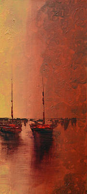 Key West Painting - Mystic Bay Triptych 3 Of 3 by Ken Figurski