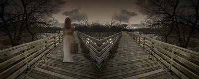Photograph - Mystic Bridge In A Dream World by Art Whitton