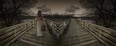 Photograph - Mystic Bridge In A Dream World by Art Whitton