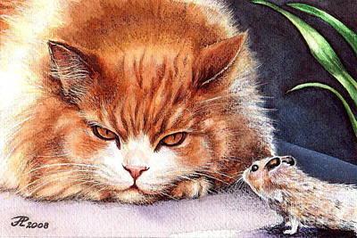 Mystic Cat Art Print by Larissa Prince