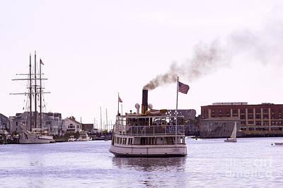 Thomas Kinkade Rights Managed Images - Mystic Cruising 1 Royalty-Free Image by Joe Geraci