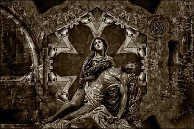 Jesus Photograph - Mystic Easter - Monotone Version by Daniel Arrhakis