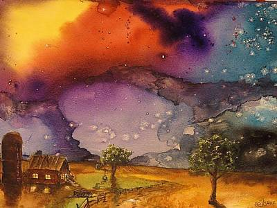 Donny Painting - Cosmic Countyside by Don Seib