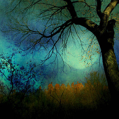 Mixed Media - Mystic Fall by Diane Paquin