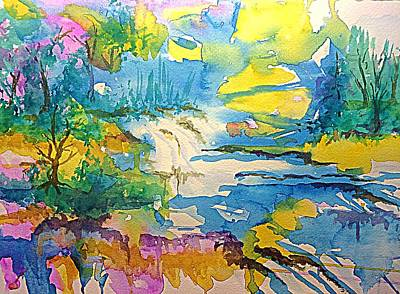 Painting - Mystic Falls by Ellen Levinson