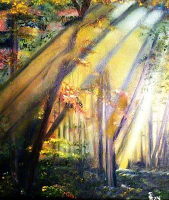 Painting - Mystic Forest Black Forest Germany by Debbie