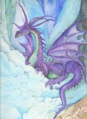 Painting - Mystic Ice Palace Dragon by Morgan Fitzsimons