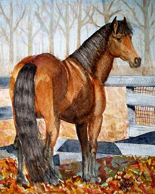 Painting - Mystic In Her Paddock by Cheryl Dodd