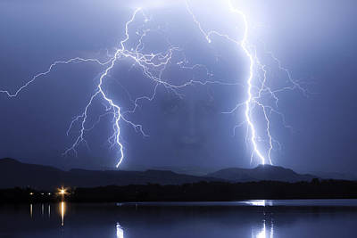 Mystic Lightning Storm Art Print