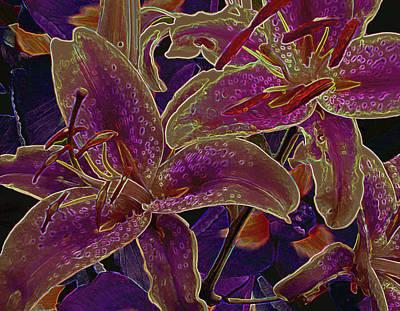 Photograph - Mystic Lilies 8 by Lynda Lehmann