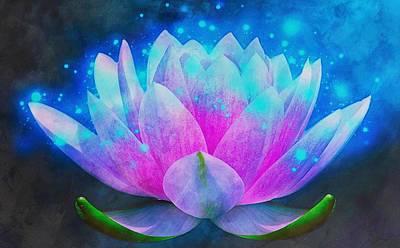 Mystic Lotus Art Print by Anton Kalinichev