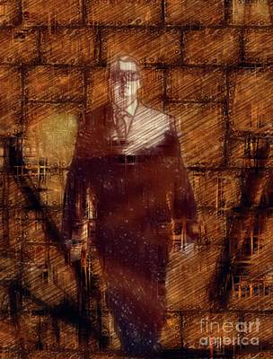 Science Fiction Royalty-Free and Rights-Managed Images - Mystic Man in Black by Raphael Terra