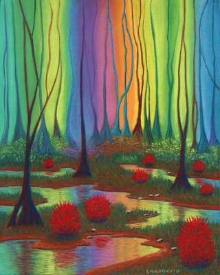 Pastel - Mystic Marsh 01 Panel B by Michael Heikkinen