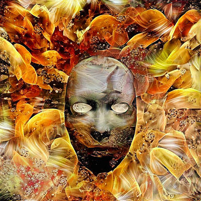 Surrealism Royalty-Free and Rights-Managed Images - Mystic Mask by Bruce Rolff