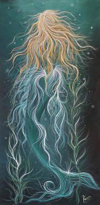 Wall Art - Painting - Mystic Mermaid by Angel Fritz
