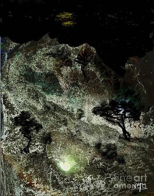 Digital Art - Mystic Moon by Subrata Bose