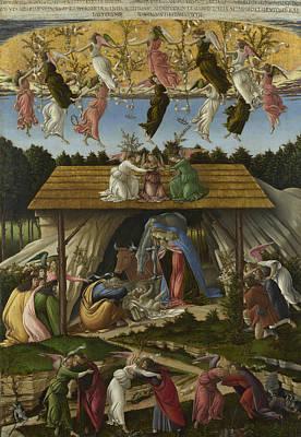 Painting - Mystic Nativity -- by Sandro Botticelli