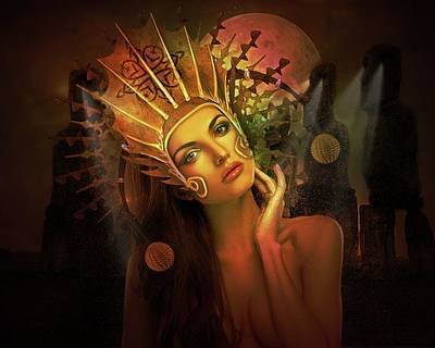 Digital Art - Mystic Night  by Terry Fleckney