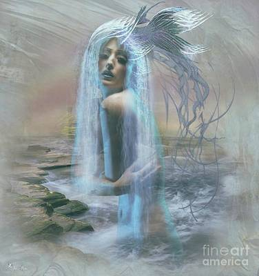 Digital Art - Mystic Of The Sea by Ali Oppy