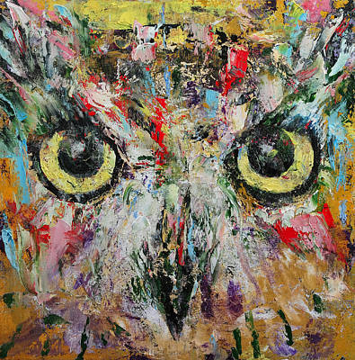 Impasto Oil Painting - Mystic Owl by Michael Creese