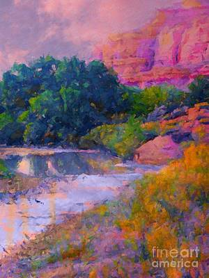 Digital Art - Mystic Pinks In Canyon by Annie Gibbons