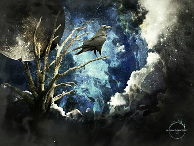 Digital Art - Mystic Raven by Absinthe Art By Michelle LeAnn Scott