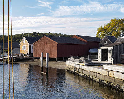 Photograph - Mystic River At The Seaport Mystic Ct by Marianne Campolongo