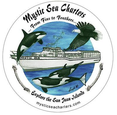 Mystic Sea Charters Logo Original