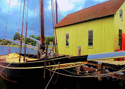 Photograph - Mystic Seaport Dock by Roger Bester