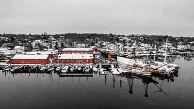 Mystic Seaport In Winter Art Print