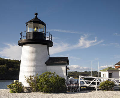 Photograph - Mystic Seaport Lighthouse I by Marianne Campolongo