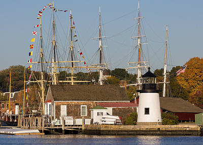 Mystic Seaport Lighthouse Art Print by Kirkodd Photography Of New England