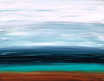 Abstract Landscapes Painting - Mystic Shore by Sharon Cummings