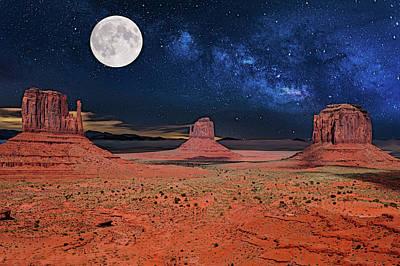 Digital Art - Mystical Arizona Night by Glenn Holbrook