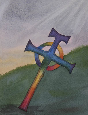 Mystical Celtic Cross Art Print by Debbie Homewood