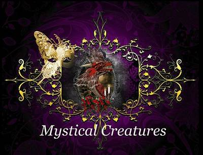 Digital Art - Mystical Creatures by Ali Oppy