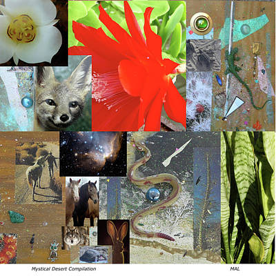 Mixed Media - Mystical Desert Compilation by Mary Ann  Leitch