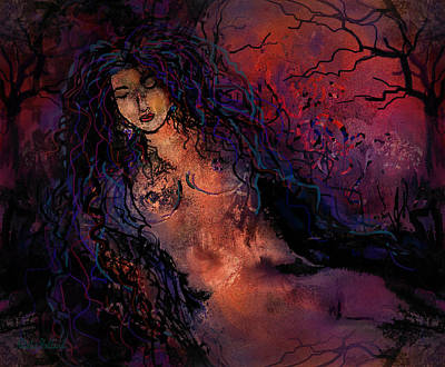 Nj Mixed Media - Mystical Forest by Natalie Holland