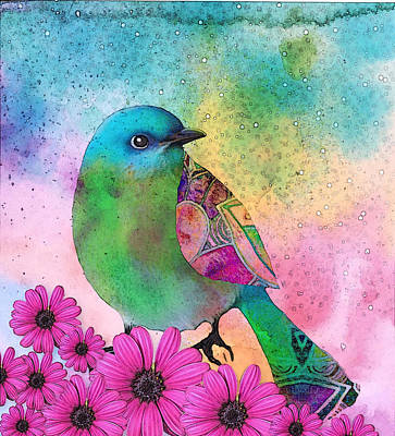Birds Rights Managed Images - Mystical Garden Royalty-Free Image by Robin Mead