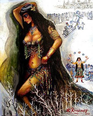 Roussimoff Wall Art - Painting - Mystical Goddess Ambrosia by Ari Roussimoff