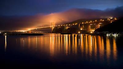 Mystical Golden Gate Bridge Art Print by Stan Angel