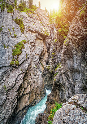 Photograph - Mystical Gorge In Golden Light by JR Photography