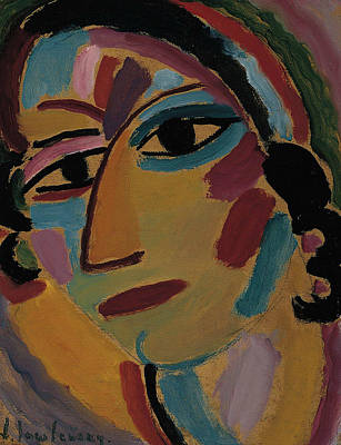 Painting - Mystical Head Galka by Alexej von Jawlensky