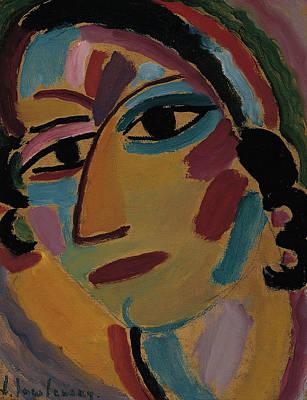 Jawlensky Painting - Mystical Head Galka by Alexej von Jawlensky