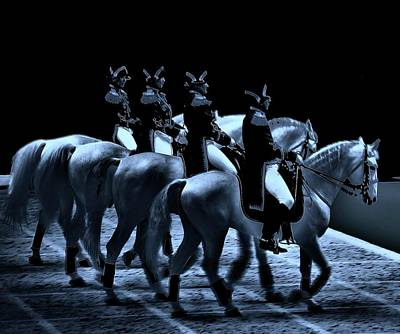 Mystical Horses Print by Vijay Sharon Govender